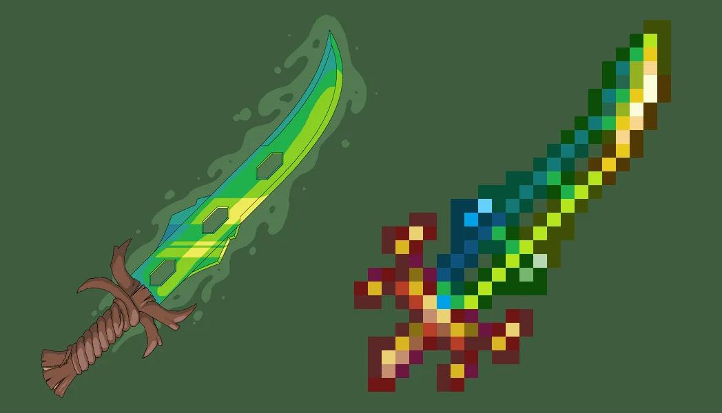 Клинок земли — как создать могучий меч в Terraria