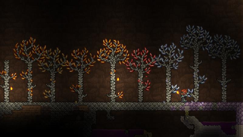 Как вырастить деревья из драгоценных камней в Terraria 1.4 Journey's End