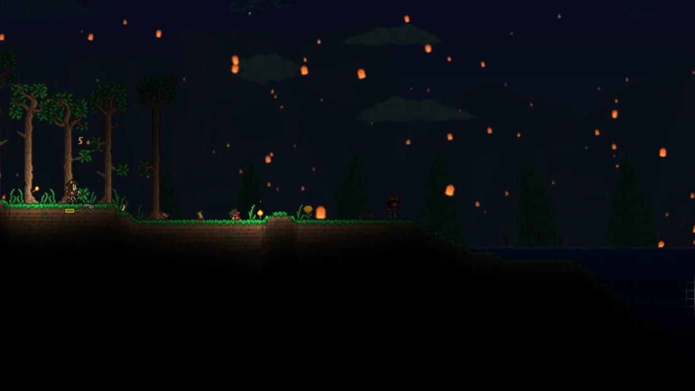 Преимущества новой ночной погоды в Terraria 1.4 Journey's End